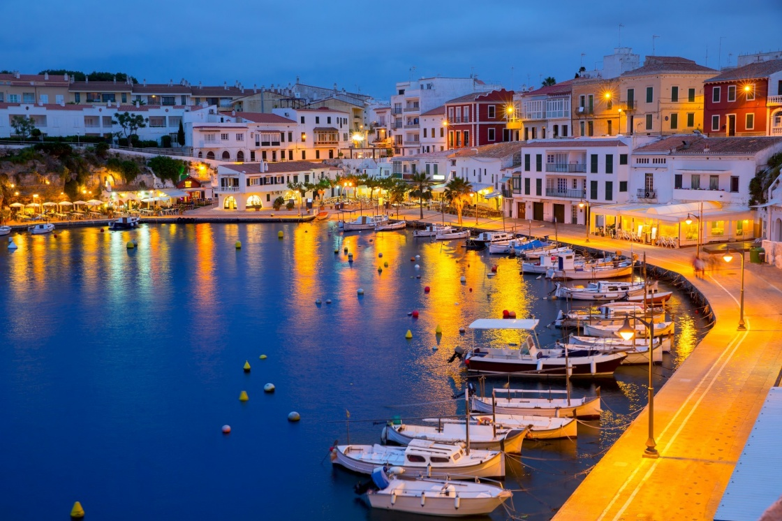 'Calasfonts Cales Fonts Port sunset in Mahon at Balearic islands' - Balearic Islands